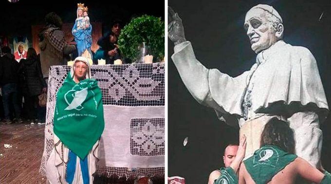 Szűz Mária zöld kendőben