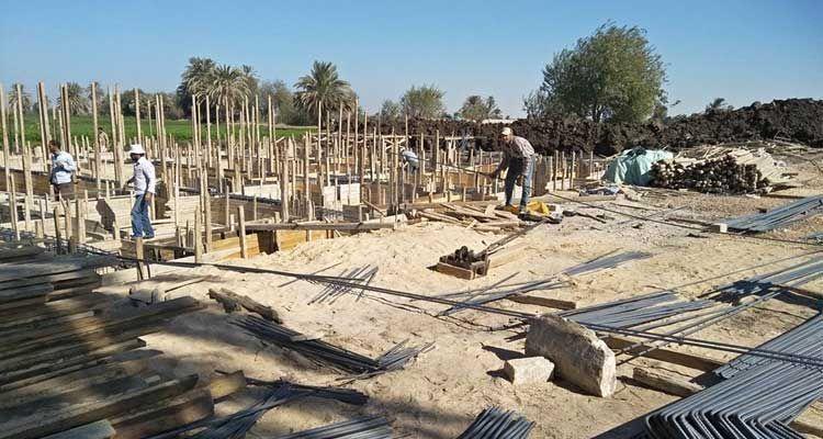 egyiptom templom építés