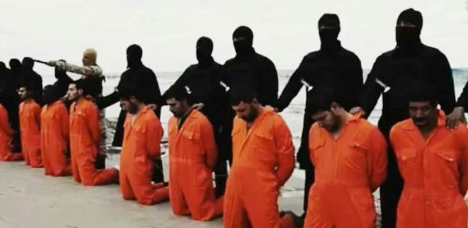 Kopt keresztények kivégzése