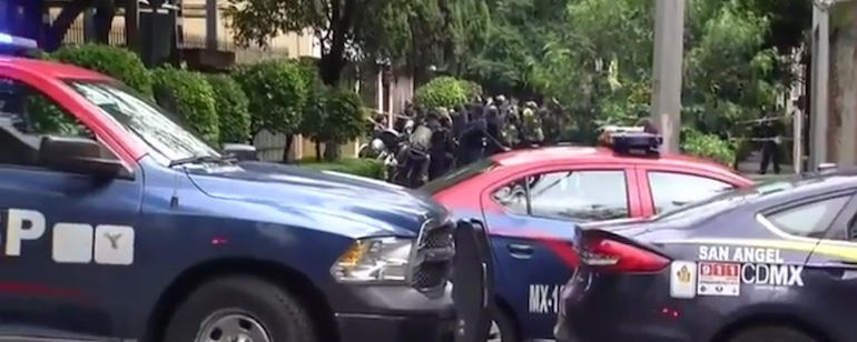 mexikó, rendőrautók