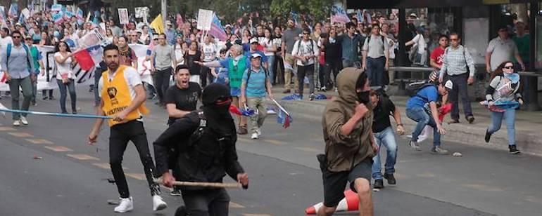utcai zavargás, Chile