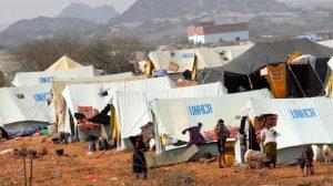 Sad camp in yemen