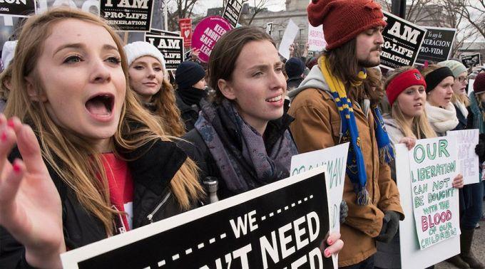 tüntetés az életért