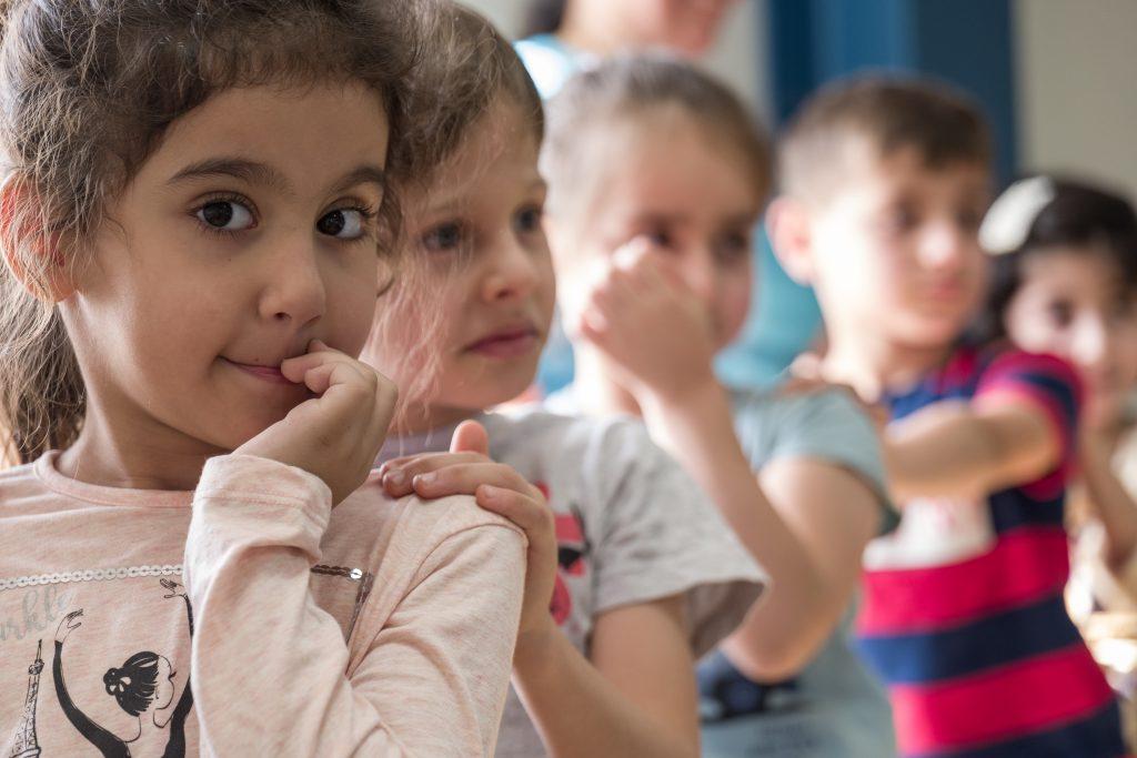 Gyerekek a Marya Mana iskolában